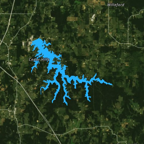 Fly fishing map for Lake of Egypt, Illinois