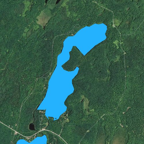 Fly fishing map for Lake of the Pines, Wisconsin
