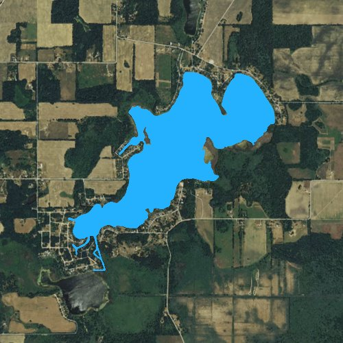 Fly fishing map for Lake of the Woods: Branch, Michigan