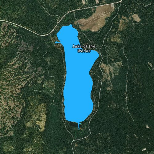 Fly fishing map for Lake of the Woods, Oregon