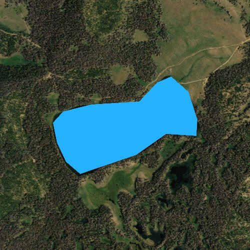 Fly fishing map for Lake of the Woods, Wyoming