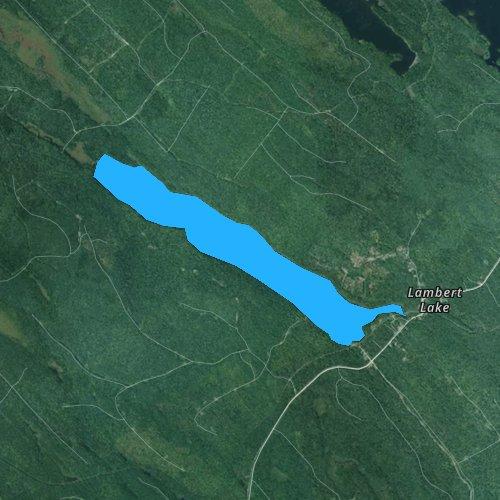 Fly fishing map for Lambert Lake, Maine