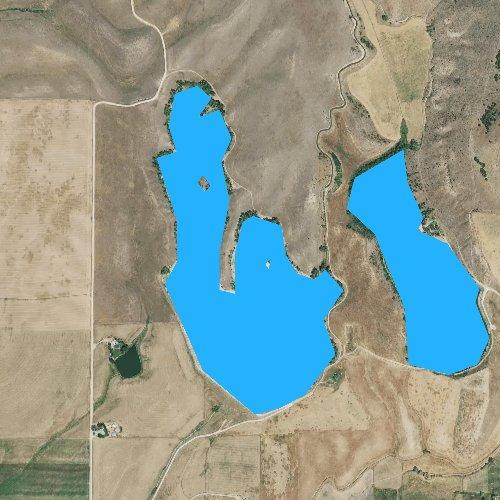 Fly fishing map for Lamont Reservoir, Idaho