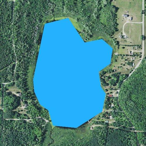 Fly fishing map for Lancaster Lake, Michigan