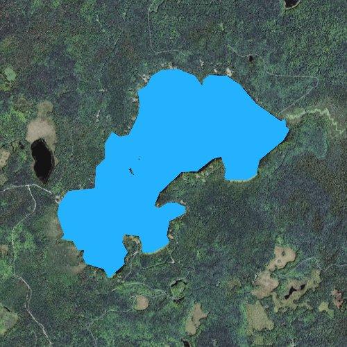 Fly fishing map for Langford Lake, Michigan