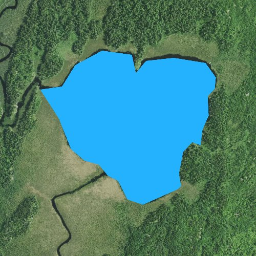 Fly fishing map for Lapond Lake, Minnesota