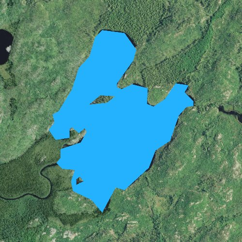 Fly fishing map for Larch Lake, Minnesota