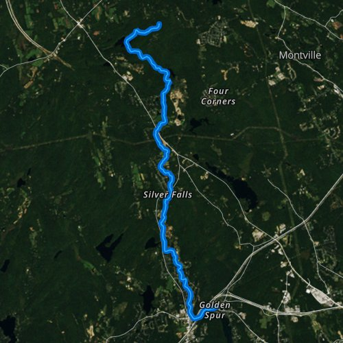 Fly fishing map for Latimer Brook, Connecticut