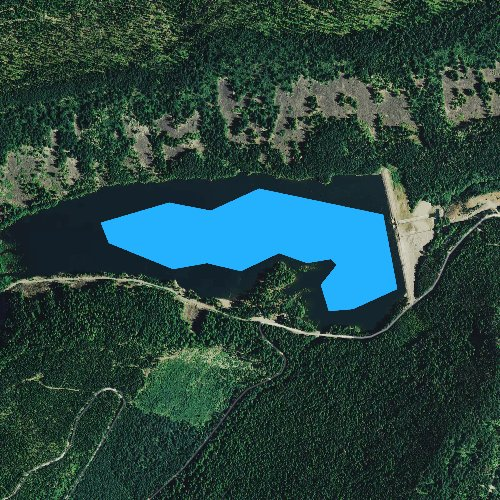 Fly fishing map for Laurance Lake, Oregon