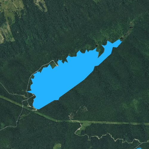 Fly fishing map for Laurel Bed Lake, Virginia