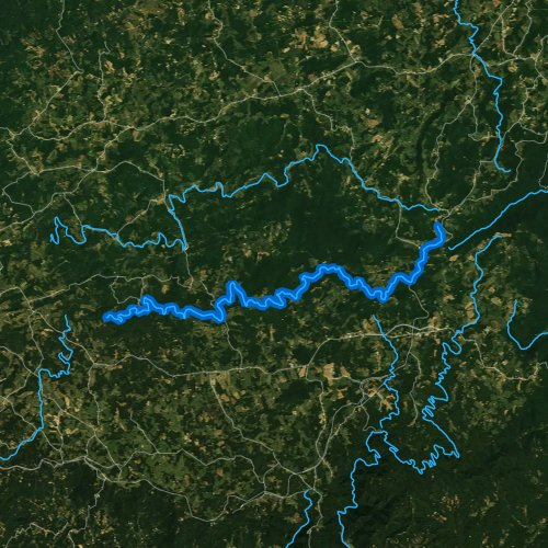 Fly fishing map for Laurel Fork: Carroll County, Virginia