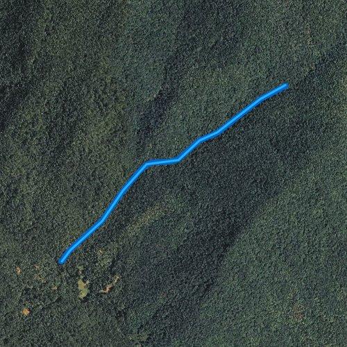 Fly fishing map for Laurel Fork Creek, South Carolina