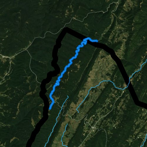 Fly fishing map for Laurel Fork: Highland County, Virginia