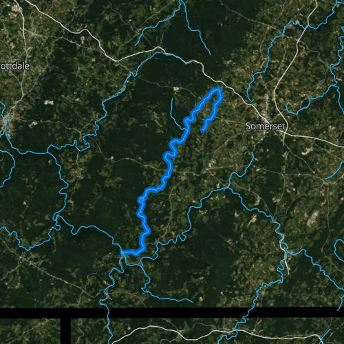 Fly fishing map for Laurel Hill Creek, Pennsylvania