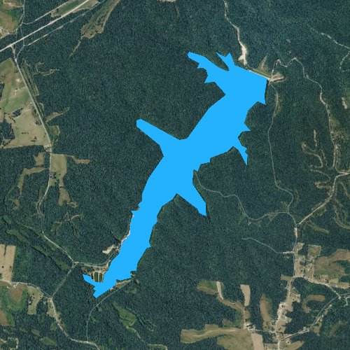Fly fishing map for Laurel Hill Lake, Tennessee