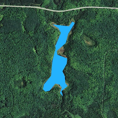 Fly fishing map for Lauterman Lake, Wisconsin