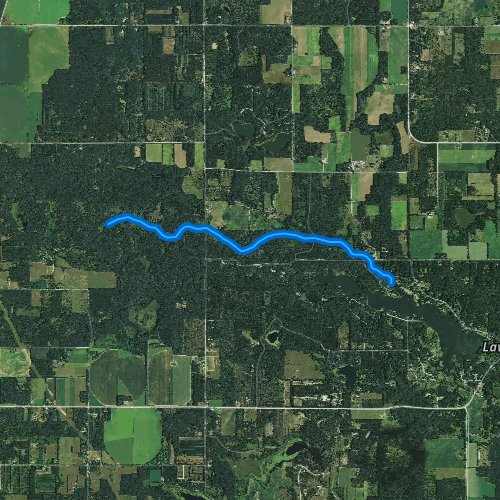 Fly fishing map for Lawrence Creek, Wisconsin