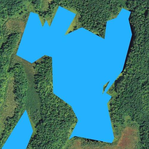 Fly fishing map for Lawrence Lake, Minnesota