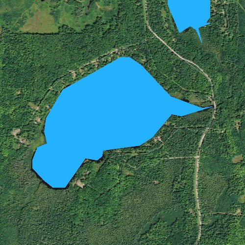Fly fishing map for Le Tourneau Lake, Wisconsin