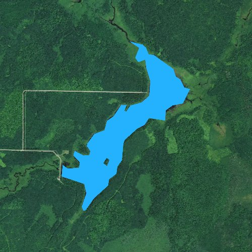 Fly fishing map for Lea Lake 13, Wisconsin