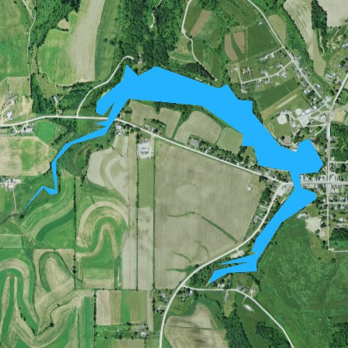 Fly fishing map for Lee Lake 20, Wisconsin