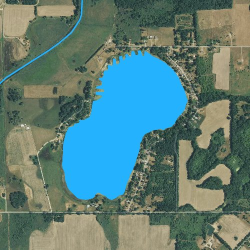 Fly fishing map for Lee Lake: Calhoun, Michigan