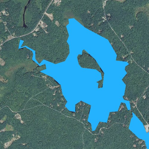 Fly fishing map for Lees Pond, New Hampshire