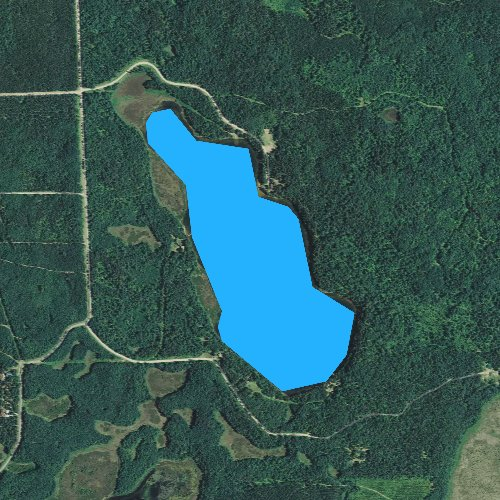Fly fishing map for Leisure Lake, Wisconsin