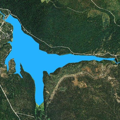 Fly fishing map for Lemolo Lake, Oregon