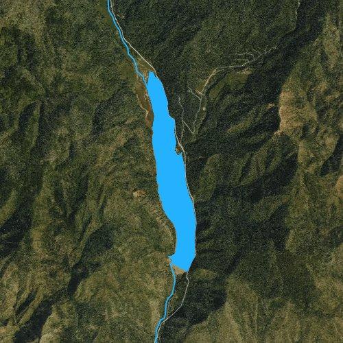 Fly fishing map for Lemon Reservoir, Colorado