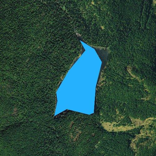 Fly fishing map for Lena Lake, Washington