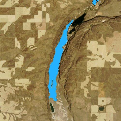 Fly fishing map for Lenore Lake, Washington