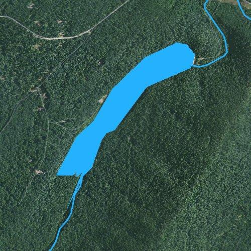 Fly fishing map for Letterkenny Reservoir, Pennsylvania