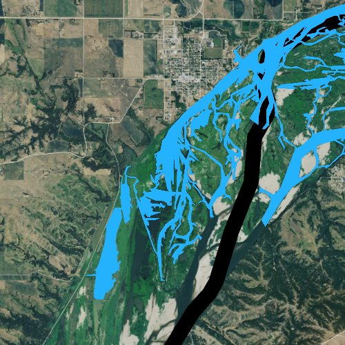 Fly fishing map for Lewis and Clark Lake, South Dakota
