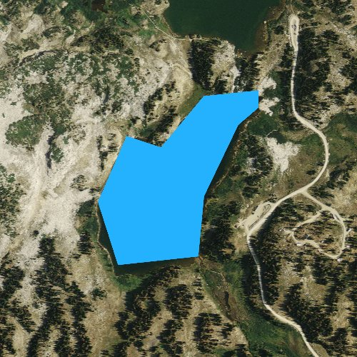 Fly fishing map for Libby Lake, Wyoming