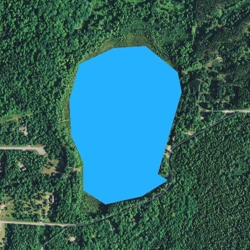 Fly fishing map for Lily Bass Lake, Wisconsin