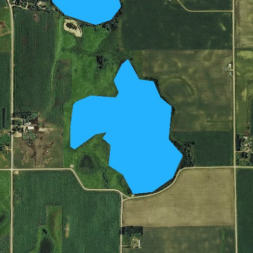 Fly fishing map for Lily Lake, Iowa