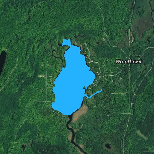Fly fishing map for Lily Lake, Wisconsin