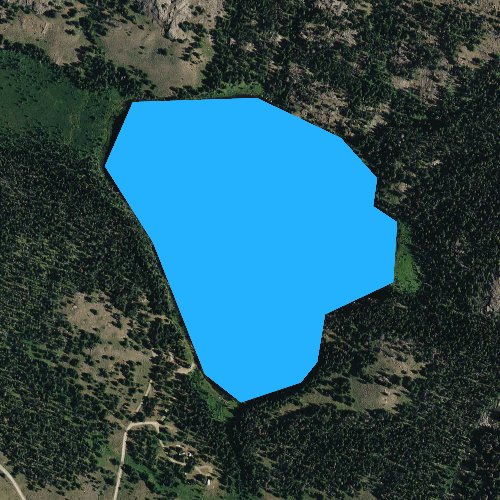 Fly fishing map for Lily Lake, Wyoming