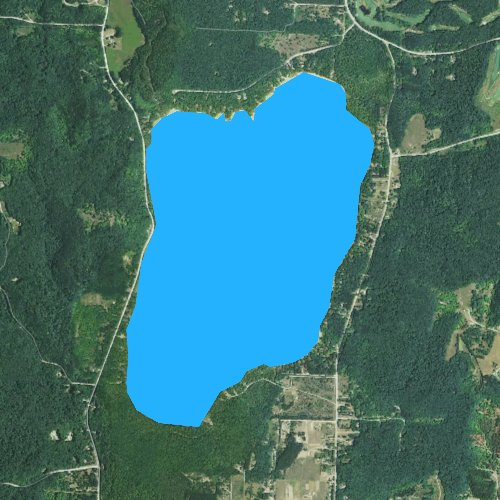 Fly fishing map for Lime Lake, Michigan