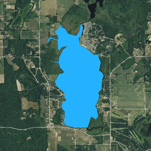 Fly fishing map for Lincoln Lake, Michigan