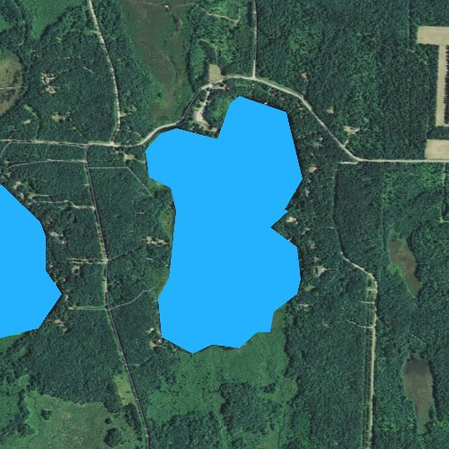 Fly fishing map for Lincoln Lake, Wisconsin
