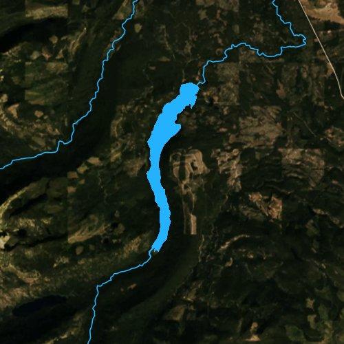 Fly fishing map for Lindbergh Lake, Montana
