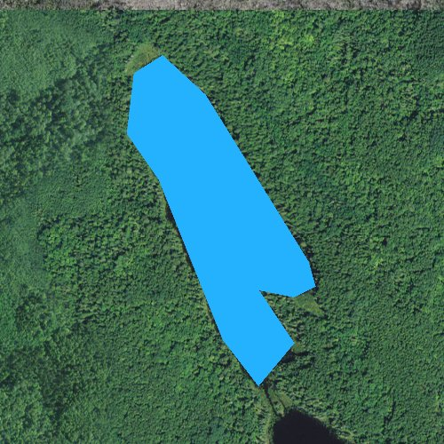 Fly fishing map for Linden Lake, Minnesota