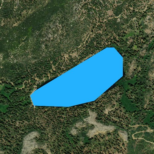 Fly fishing map for Lindsey Lakes, California
