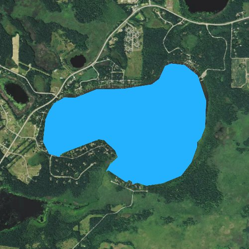 Fly fishing map for Linwood Lake, Minnesota