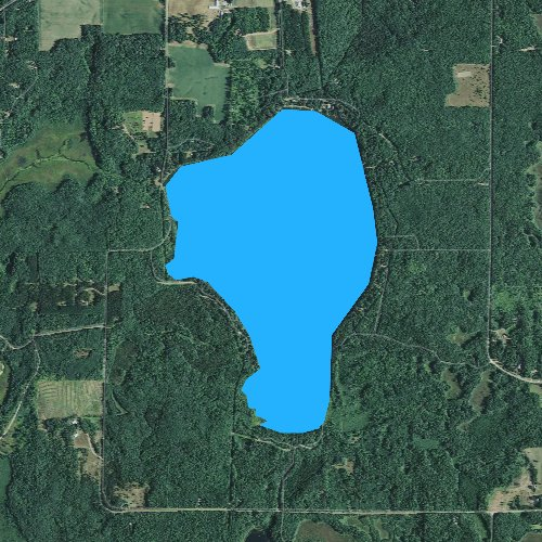 Fly fishing map for Lipsett Lake, Wisconsin