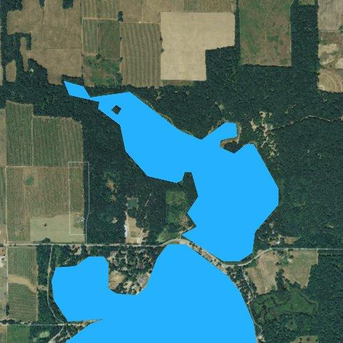 Fly fishing map for Little Bankson Lake, Michigan