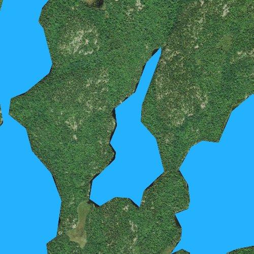 Fly fishing map for Little Beartrack Lake, Minnesota