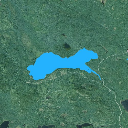 Fly fishing map for Little Big Wood Pond, Maine